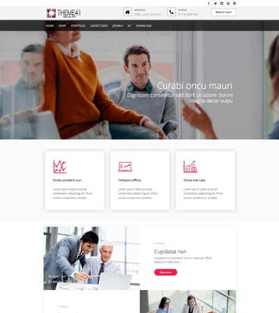 Corporate joomla template